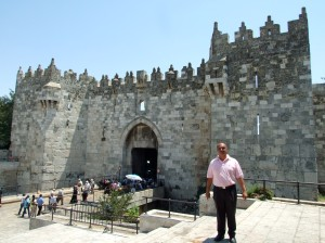 My friend and guide from Jordan, Ibrhaim at the Damascus Gate